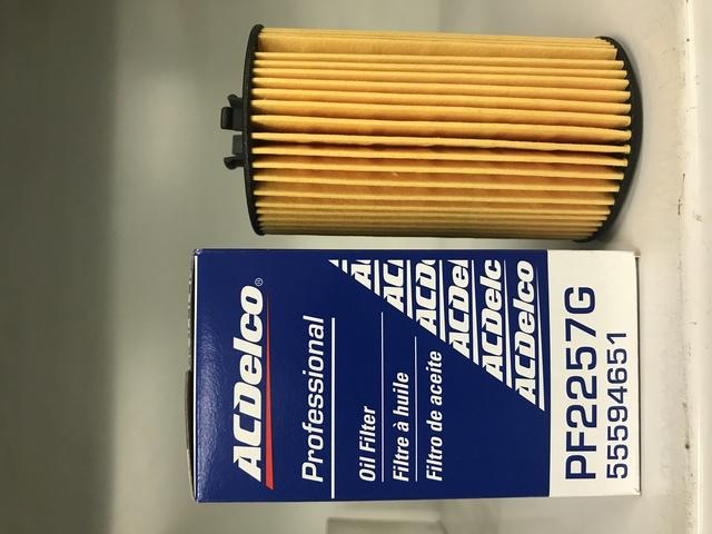Genuine Gm Oil Filter Pf2257 55594651