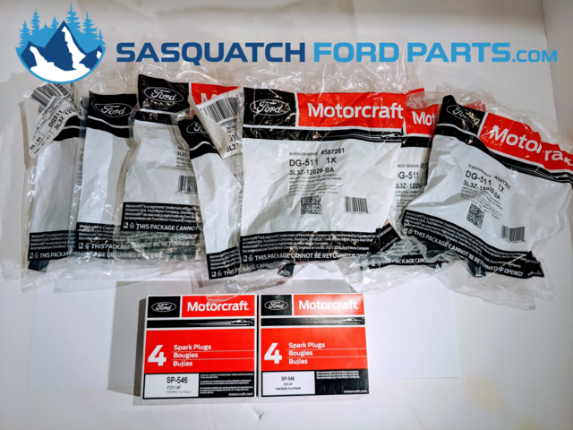 5.4L FORD TUNE UP KIT COILS AND PLUGS (8) DG511+ (8) SP526 MOTORCRAFT - Ford (54TUNEUP)