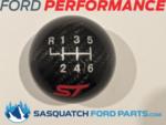 FOCUS ST SHIFT KNOB - CARBON FIBER, BLACK, 6 SPEED - FORD PERFORMANCE (M-7213-FSTCF)