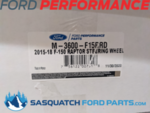 2015-2018 F-150 RAPTOR PERFORMANCE STEERING WHEEL KIT- RED SIGHTLINE - FORD PERFORMANCE (M-3600-F15RRD)
