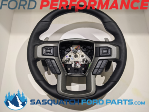 2015-2018 F-150 RAPTOR PERFORMANCE STEERING WHEEL KIT- RED SIGHTLINE - FORD PERFORMANCE (M-3600-F15RRD)
