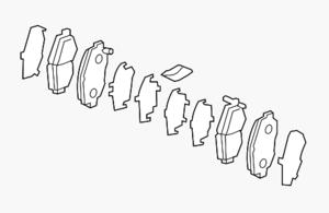 Brake Pad Set, Front - Acura (45022-TX4-305)