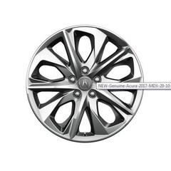"Genuine Acura 2017 MDX 20"" 10-Spoke Dark Chrome Wheels"
