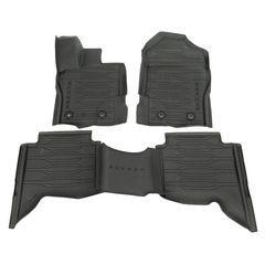 Floor Liner - Black, 4-Piece Set, For Crew Cab - Ford (KB3Z-2613300-AA)