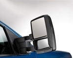 2008-2014 Ford F-150 Trailer Tow Mirrors - Telescoping w/Black Skull Caps, Heated, Puddle,Signal, Less Memory
