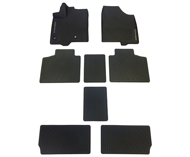 Does NOT fit with Sienna with 8 Passenger Seat Black Heavy Duty Custom Fit Car Floor Mat Compatible with 2011-2019 Toyota Sienna with 7 Passenger Seat All Weather Protector 4 pieces set