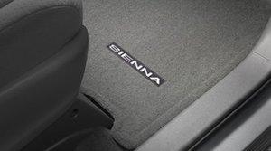 2015-2020 Sienna Carpet Floor Mats - Gray (LE / XLE Trims; Fixed Console; 8 Passengers; 6 Piece Set) - Toyota (PT206-08179-11)