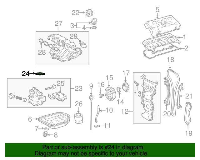 Genuine Toyota 2.4L 2AZ-FE  Oil Pump Gasket 15193-0H010
