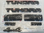 Genuine Toyota 2014 & Newer Tundra Black/Blackout Emblem Overlay Kit - Toyota (PT948-34181-02)