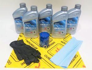 Honda Genuine 10W-30 Full Synthetic Oil Change Kit w/A02 Filter & Drain Washer - Honda (10W30FS)
