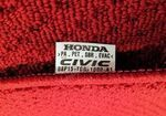 Genuine 17-18 Honda Civic Hatchback Red HFP Carpet Floor Mats - Honda (08P15-TGG-110A)