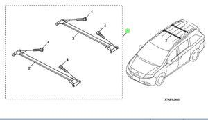 Roof Cross Bars - Honda (08L04-TK8-102)