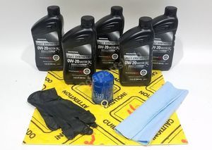 Honda Genuine 0W-20 Full Synthetic Oil Change Kit w/A02 Filter & Drain Washer - Honda (0W20FS)