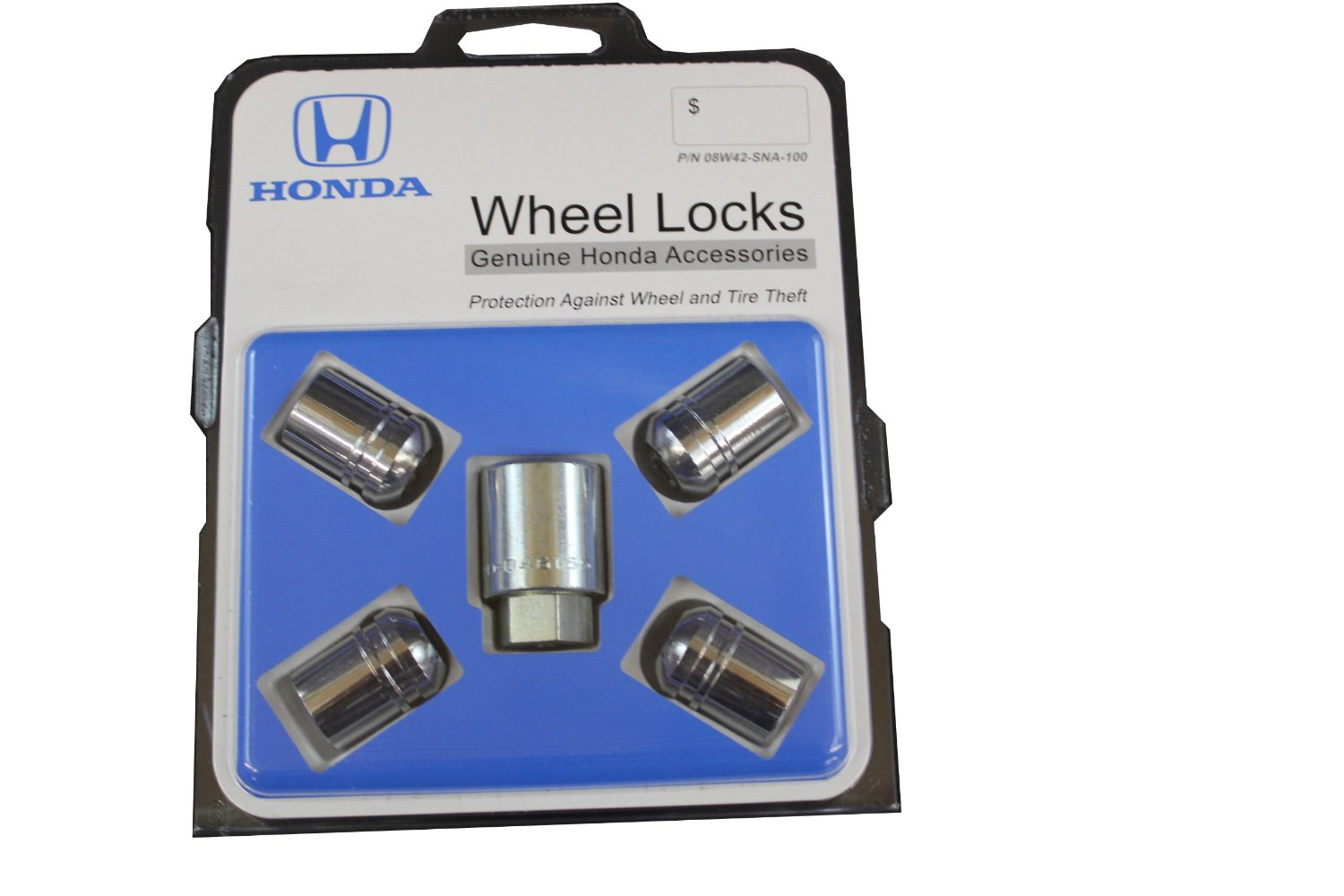 WHEEL LOCK NUT SET (EXPOSED) Fits all Hondas except Odyssey,Pilot, Ridgeline, and Passport - Honda (08W42-SNA-100)