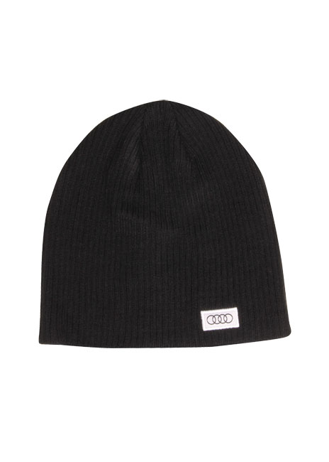 Cable Rib Beanie | Black | One Size - Audi (ACM4414BLK)