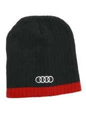 The Standard Knit Cap   Black & Red   One Size - Audi (ACM4430)
