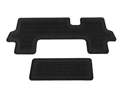 All-Weather Floor Liners - Black - 2 Pieces (Third Row Mat ONLY) - Toyota (PT908-48166-02)