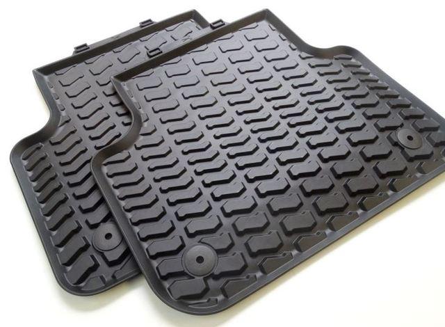 All-Weather Floor Mats (Rear) - Black - Audi (4L0-061-511-041)