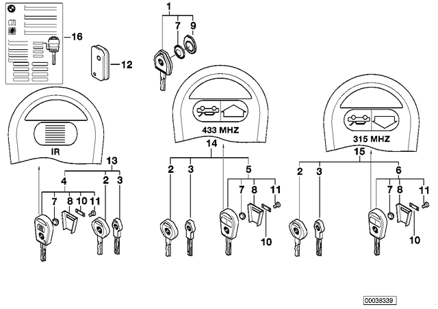 Key - BMW (51218374931)