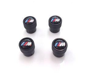 Valve Stem Caps - M Logo - Black 36122456427 - BMW (36-12-2-456-427)