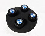 Valve Stem Caps - Roundel - Black - BMW (36-12-2-456-426)