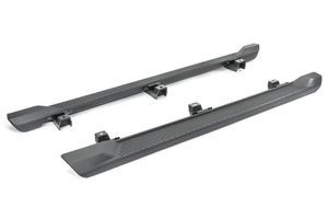 Black Molded Side Steps for Jeep Wrangler JL 4-Door Only