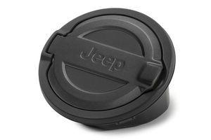2018-2021 Jeep Wrangler JL Fuel Door Black Powdercoated Aluminum 82215123 OEM - Mopar (82215123)