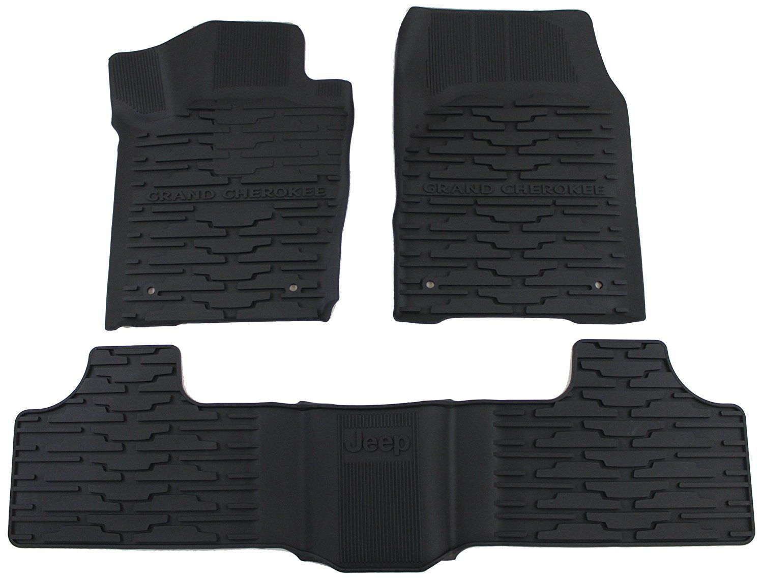 Mopar Jeep Grand Cherokee - Black All-Weather Floor Mat - Mopar (82213686)