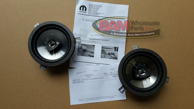 Jeep 6.5 Inch Kicker Upgrade - 2-way Speakers - Mopar (77KICK10)