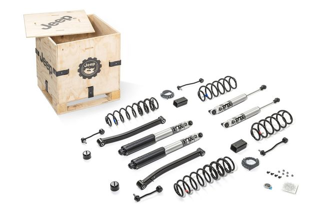 "Jeep Wrangler JL 4-Door 2-Inch Lift Kit with 2.5"" Diameter FOX Shocks for 3.6L Engines - Mopar (77072395AB)"