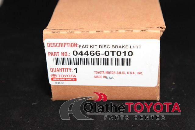 Disc Brake Pad Set - Toyota (044660t010)