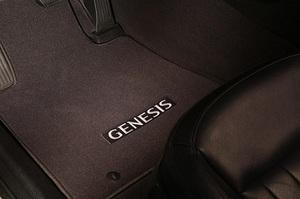 Genesis G90 All Wheel Drive Black Carpeted Floor Mats - Hyundai (D2114-ADU00)