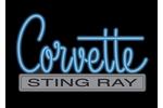 Corvette Emblem C2 Neon Sign- Blue - GM (C2-NS-B)