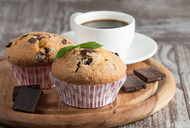 Chocolate Chip Walnut Muffins