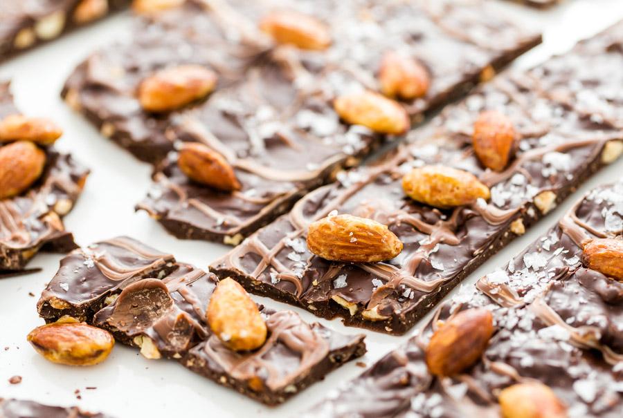 Keto Almond Chocolate Bark