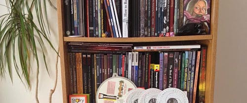 My RPG bookshelves