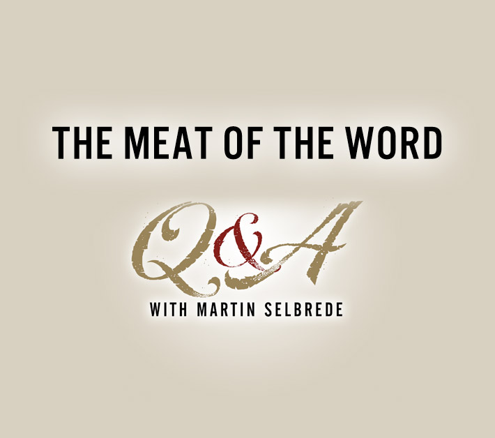 The Meat of the Word Q&A with Martin Selbrede 1