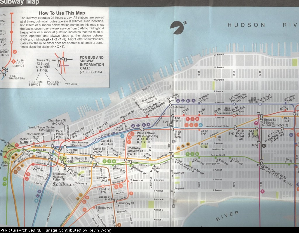 1987 Subway Map.1985 New York Subway Map