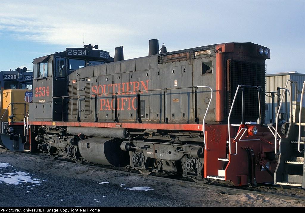 SP 2534, EMD SW1500, at North Yard,