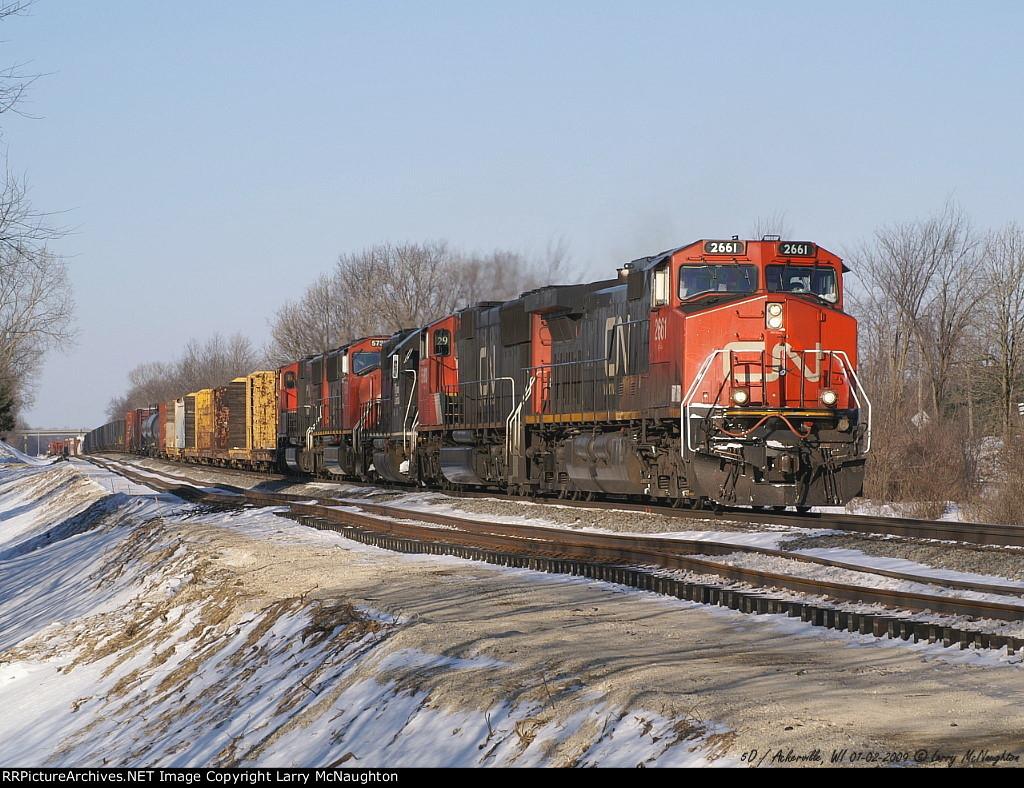 Locomotives: CN 2661(C44-9W), Author: Larry McNaughton