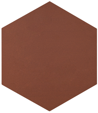 Quarry Tile - Hexagonal Red Smooth