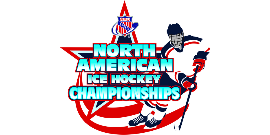 Logo aau ice hockey wide