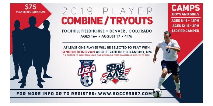Denver colorado combine tryouts  august 17