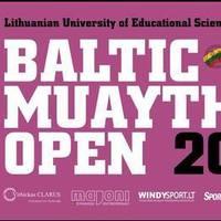Baltic muaythai open 2019 poster