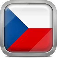 Czech republic squared flag button