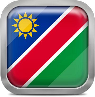 Namibia squared flag button