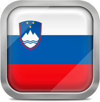 Slovenia squared flag button