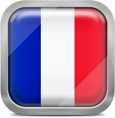 France squared flag button