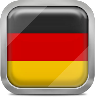 Germany squared flag button