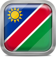 Namibia squared flag button